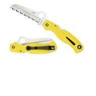 Spyderco Atlantic Salt Folder 3.69 in Serrated Yellow FRN