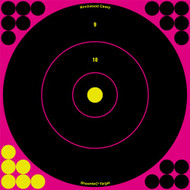 Birchwood Casey Shoot-N-C Pink 8in Bulls-Eye Target 30pk