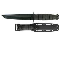 Ka-Bar Short Tanto Fixed 5.25 in Black Blade Kraton Handle