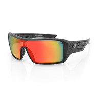 Bobster Paragon Sunglasses-Matte Black-Red Mirror Lenses