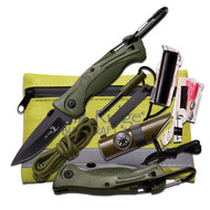 Elk Ridge Green Survival Kit 5In. X 4.25In.