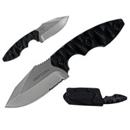 Defcon TD004 Fixed Blade 7.5 in D2 Comboedge G10 Handle