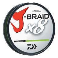 Daiwa J-Braid Chartreuse Fishing Line 330 Yards 20lb Test