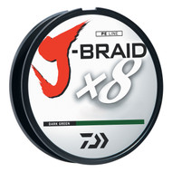 Daiwa J-Braid Dark Green Fishing Line 330 Yards 65lb Test