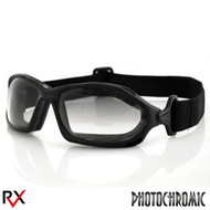 Bobster DZL Riding Goggles Anti-Fog PhotoC Lens