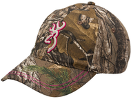 Browning Ladies Pursuit Xtra Camo & Pink Hat