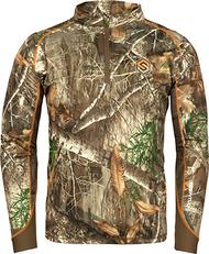 Savanna Attack 1/4 Zip L/S Shirt Realtree Edge Medium