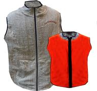 Gator Skins Fleece Lined Vest Reversable Brown/Blaze Large