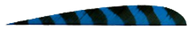"Trueflight Blue Bar 4"" RW Feathers - 100 Pieces"