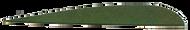 """Trueflight Leaf Green 5"""" LW Feathers - 100 Pieces"""