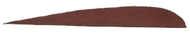 "Trueflight Autumn Brown 5"" LW Feathers - 100 Pieces"
