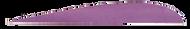"Trueflight Purple 5"" LW Feather - 100 Pieces"