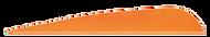 4 LW Gateway Feathers Tangerine - 100 Pieces