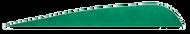 4 RW Gateway Feathers Green - 100 Pieces