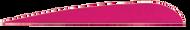 "Trueflight Pink 2 1/2"" RW Feathers - 100 Pieces"