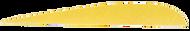 "Trueflight Yellow 2 1/2"" RW Feathers - 100 Pieces"