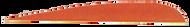 "Trueflight Orange 2 1/2"" RW Feathers - 100 Pieces"