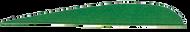 "Trueflight Green 2 1/2"" RW Feathers - 100 Pieces"