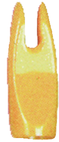 "BJ Nocks 11/32"" Yellow - 100 Pieces"