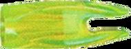 """BJ Nocks 1/4"""" Flo Green - 100 Pieces"""