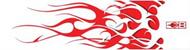 "Bohning Blazer Wrap 4"" Red/White Flame HD - 12 Pieces"