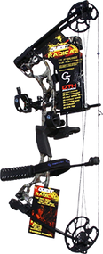 """2015 Quest Radical Realtree All Purpose Bow Package RH 25"""" 40# Compund Bow"""