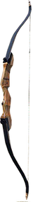 """Western 2015 Monarch Takedown Bow Black Limbs Right Hand 54"""" 25# Recurve Bow"""
