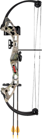 2015 Brave Youth Bow All Purpose Green Camo RH w/Accy Package