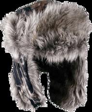 Outdoor Cap Mossy Oak Breakup Fleece Trapper Lined w/Fur Hat