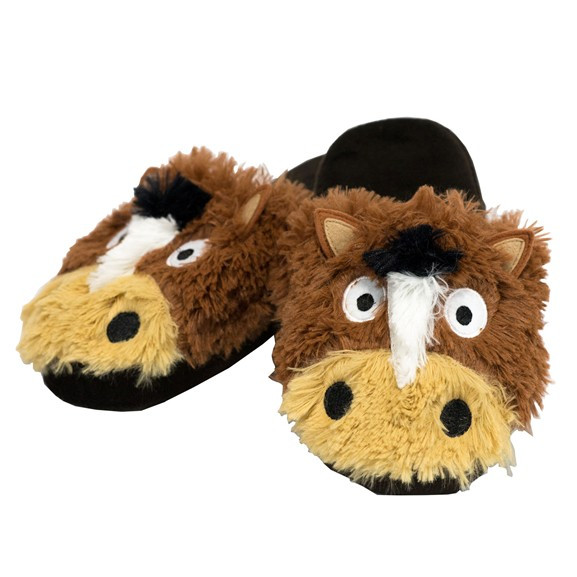 1154eaa18303 Horse Critter Slippers - Treasures of the Rockies