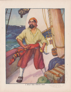 Original Pirate Man Bookplate