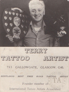 Original Terry Wrigley Business Card