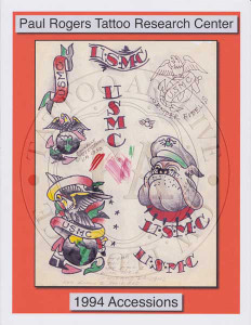 1994 Paul Rogers Tattoo Research Center Accession Book