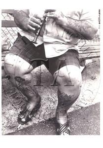 New York City street scene showing a tattooed man, Black & White photo by Leon Levinstein. 4 x 6