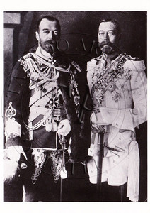 Two of the famous tattooed rulers of the world shown here wearing each others uniform. 4 x 6