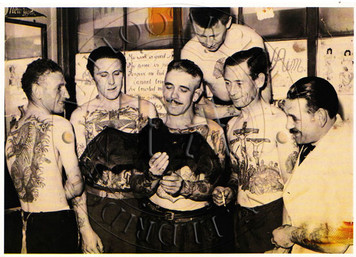 1950s Black & White photo of Les Skuse and other members of the BTC. 4 x 6