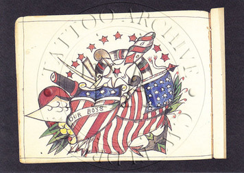 Gus Wagner Flash Postcard - Patriotic