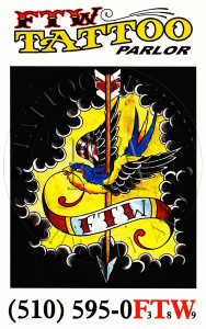 FTW Tattoo Parlor Postcard