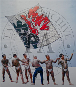 Tattooed Men With Kite Poster