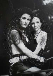 Two Tattooed Women Poster
