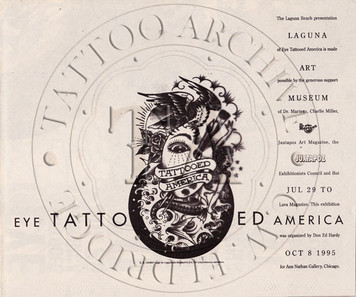 Eye Tattooed America Poster