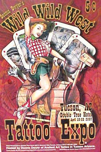Wild, Wild West Tattoo Expo Poster