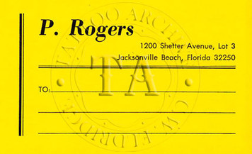 Paul Rogers Mailing Label