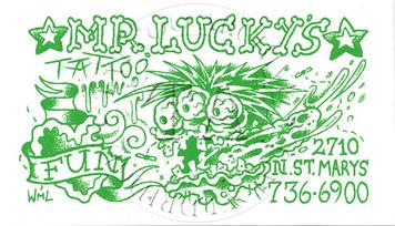 Mr. Lucky's Sticker