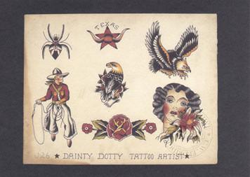 Dainty Dotty Flash Postcard