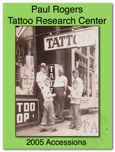 2005 Paul Rogers Tattoo Research Center Accession Book