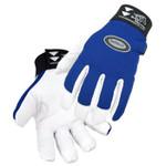 Revco Full Grain Leather Goat Mechanics Tool Glove w/Velcro Wrist Large