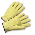 Medium Full Grain Leather Pig Driver's Glove Straight Thumb 1dz