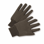 9oz Brown Jersey Glove with Knit Wrist 1dz