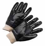 Black Single Dipped PVC Cotton String Knit w/Knit Wrist 1dz
